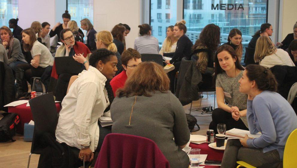 Charities and Media Volunteers at 2017 Media Trust volunteer event.